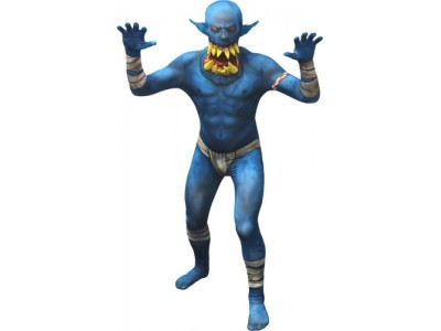 MORPHSUITS MONSTER ORC BLU JAW DROPPER L