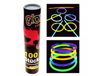 BRACCIALETTO COLLANA STICK LUMINOSO set di 100