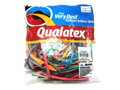 PALLONCINI MODELLABILI QUALATEX 260Q BUSTA 100 PEZZI MIX